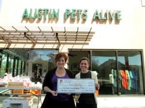Laurie Loew and Dr. Ellen Jefferson of Austin Pets Alive!